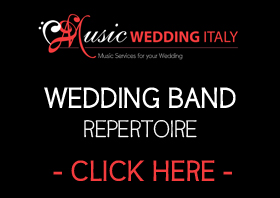 repertoire wedding music band rome italy, music wedding italy